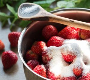 Frutillas con azúcar